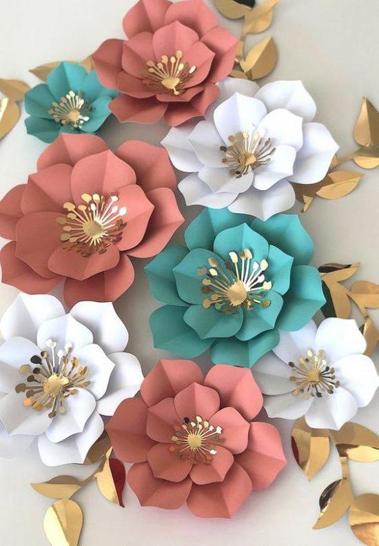 Flores Gigantes De Papel Centro De Mesa Y Decorado De Boda